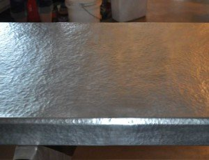 Hammered Zinc Countertop Mountain Copper Creations