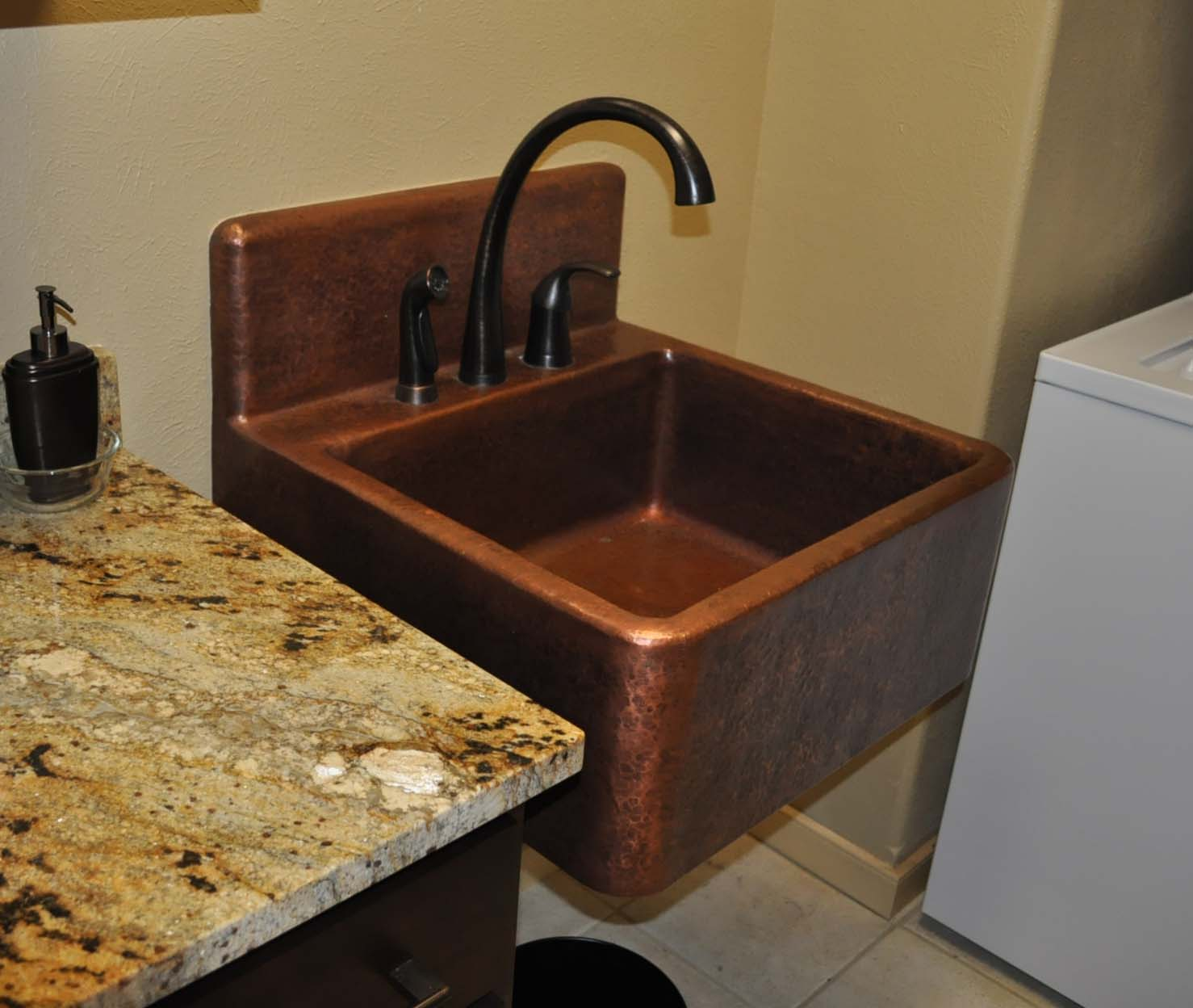 High Back Copper Sink Mountain Copper Creations